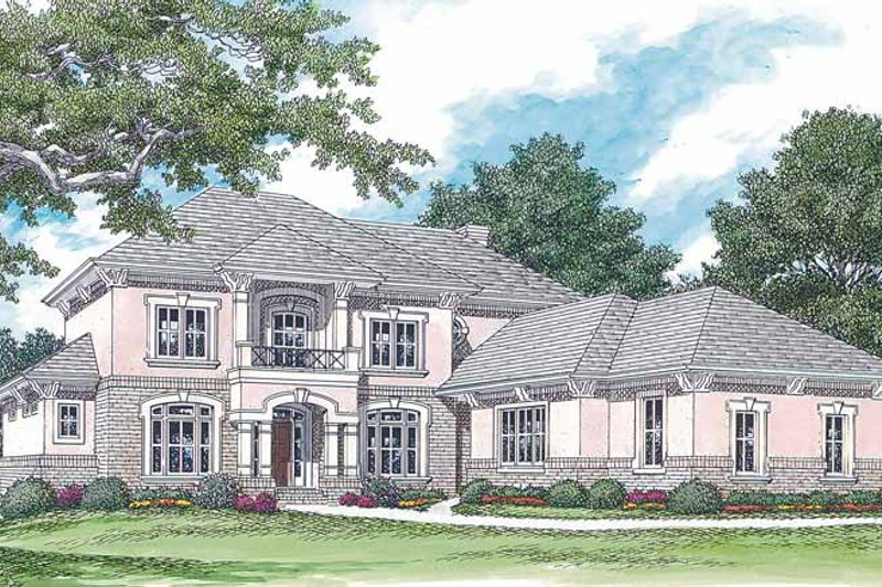 Dream House Plan - Mediterranean Exterior - Front Elevation Plan #453-353