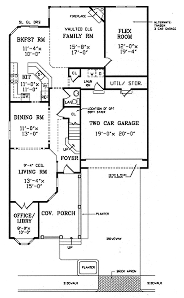 Country Floor Plan - Main Floor Plan Plan #314-291