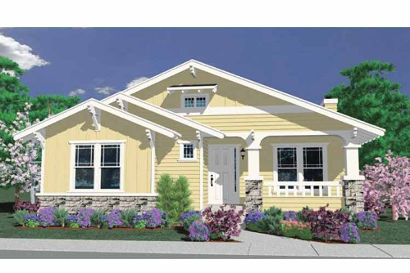 Country Exterior - Front Elevation Plan #509-188