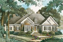 House Plan Design - Country Exterior - Front Elevation Plan #429-333