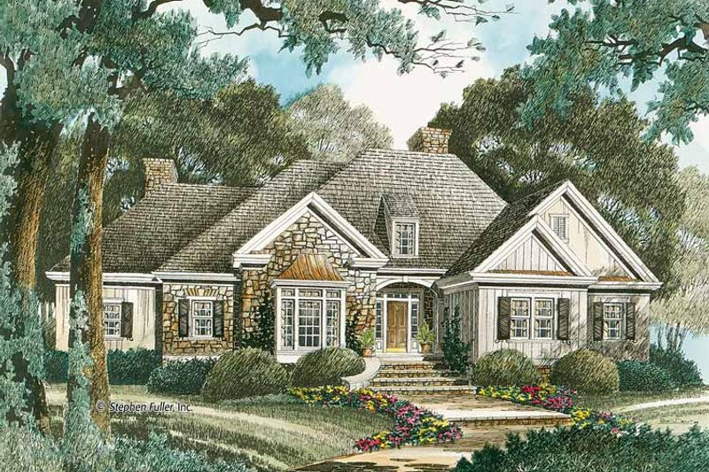 Country Exterior - Front Elevation Plan #429-333 - Houseplans.com