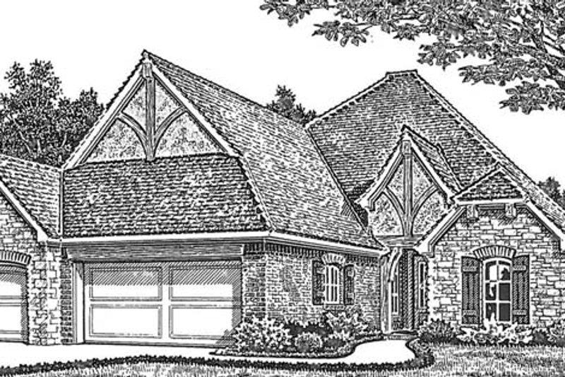 European Exterior - Front Elevation Plan #310-1265 - Houseplans.com