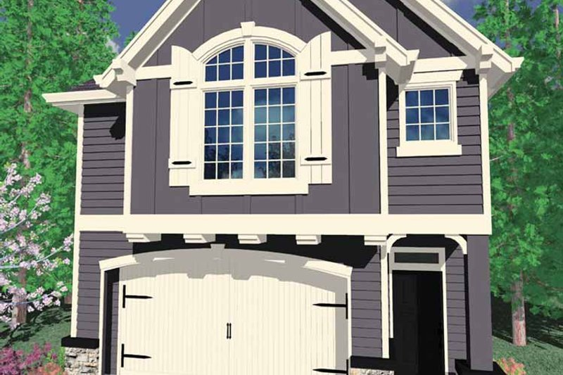 Prairie Exterior - Front Elevation Plan #509-197 - Houseplans.com