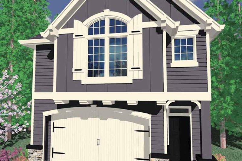 Prairie Exterior - Front Elevation Plan #509-197