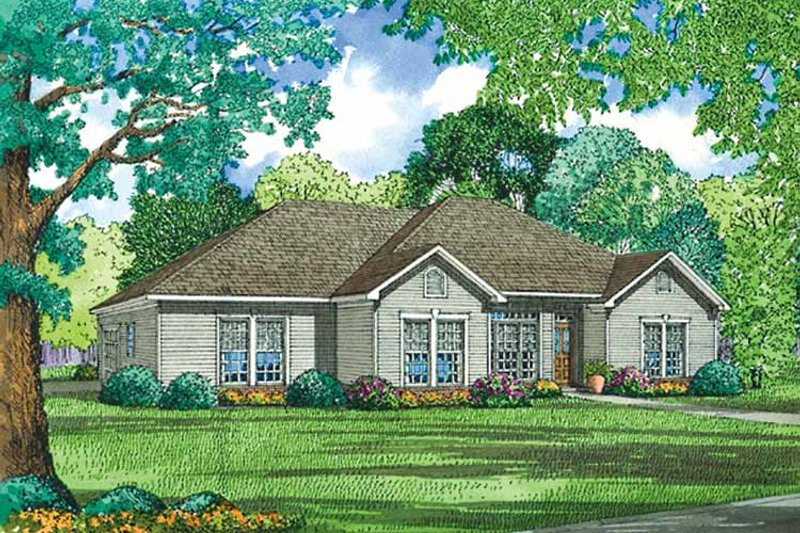 Ranch Exterior - Front Elevation Plan #17-3173