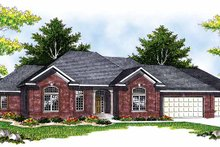 Home Plan - Traditional Exterior - Front Elevation Plan #70-1395