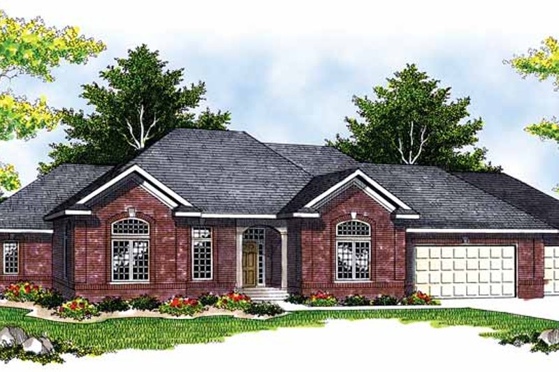 Traditional Exterior - Front Elevation Plan #70-1395 - Houseplans.com
