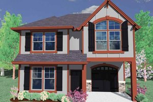Prairie Exterior - Front Elevation Plan #509-138