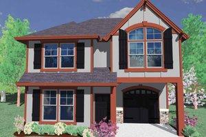 Architectural House Design - Prairie Exterior - Front Elevation Plan #509-138