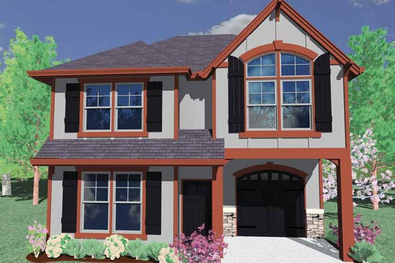 Prairie Exterior - Front Elevation Plan #509-138 - Houseplans.com