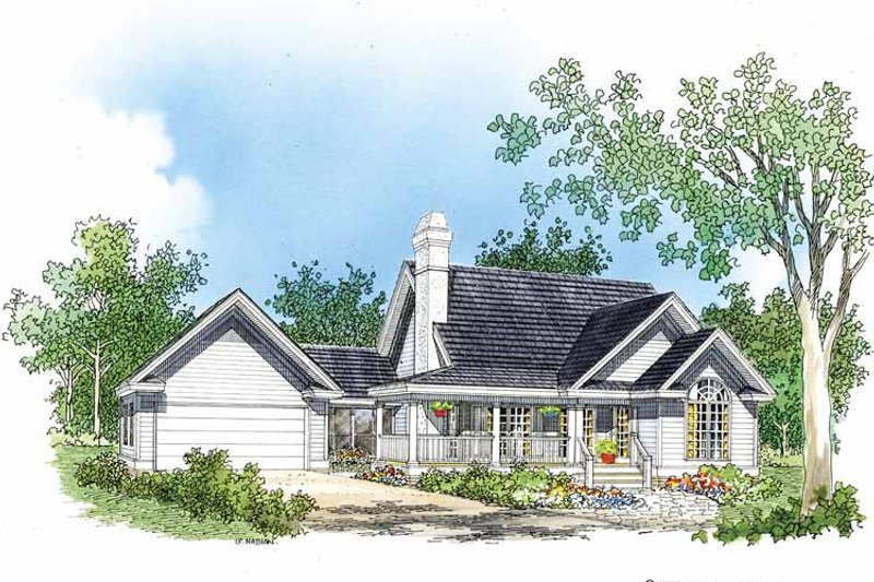 Country Exterior - Front Elevation Plan #929-337 - Houseplans.com