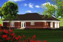 Dream House Plan - Ranch Exterior - Rear Elevation Plan #70-1165