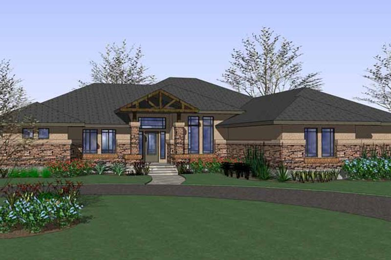 Craftsman Exterior - Front Elevation Plan #120-226