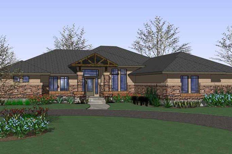 House Plan Design - Craftsman Exterior - Front Elevation Plan #120-226