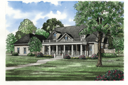 Traditional Style House Plan - 4 Beds 4.5 Baths 3740 Sq/Ft Plan #17-225