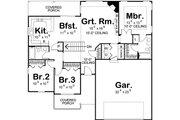 Ranch Style House Plan - 3 Beds 2 Baths 1381 Sq/Ft Plan #455-224 Floor Plan - Main Floor Plan