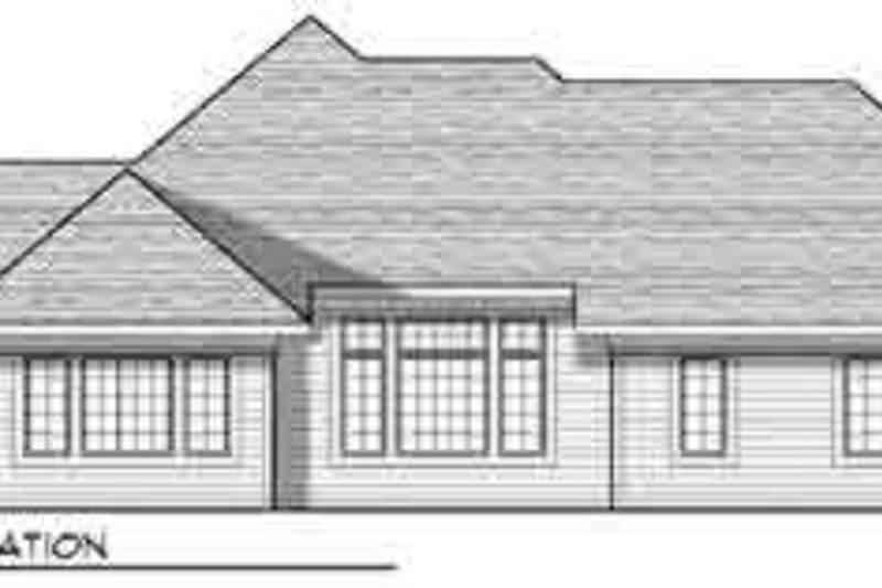 Traditional Exterior - Rear Elevation Plan #70-830 - Houseplans.com