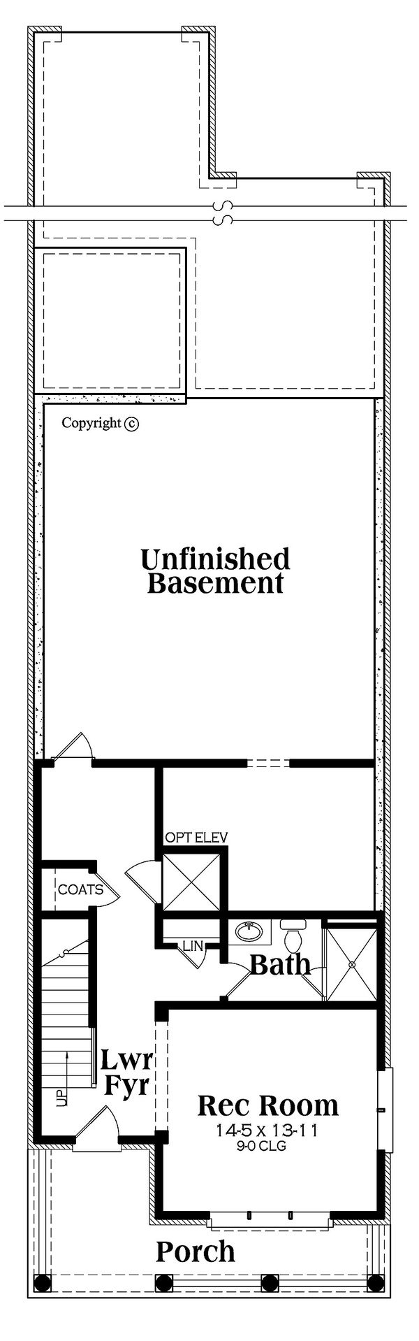 Traditional Floor Plan - Lower Floor Plan #419-292