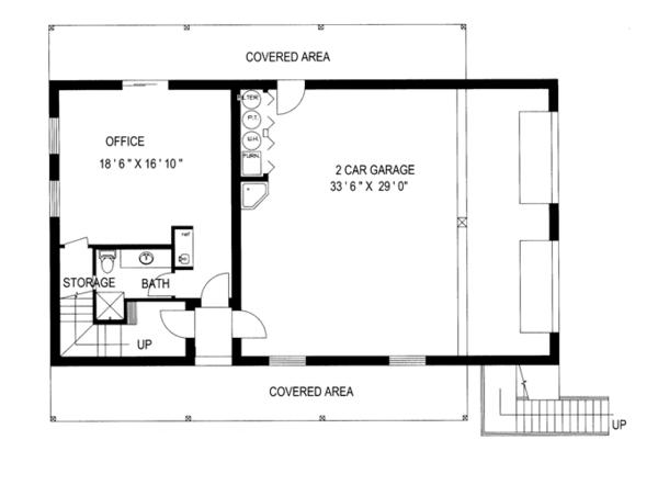 Country Floor Plan - Main Floor Plan Plan #117-836