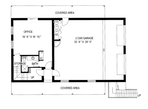 Country Floor Plan - Main Floor Plan Plan #117-836