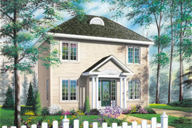 Colonial Exterior - Front Elevation Plan #23-2105