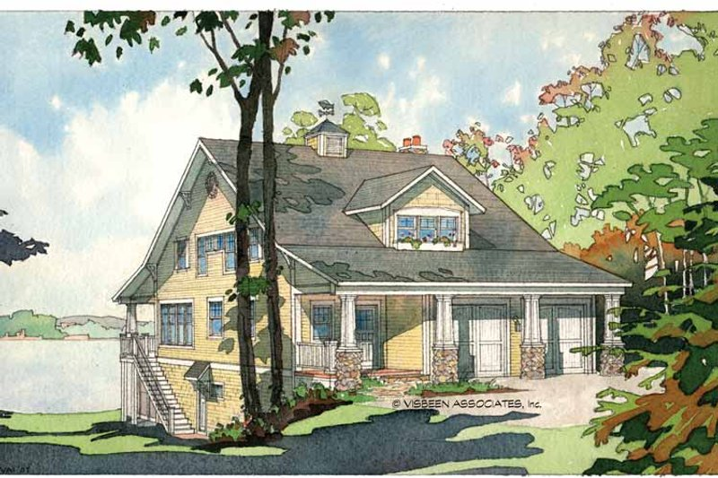 Bungalow Exterior - Front Elevation Plan #928-22 - Houseplans.com