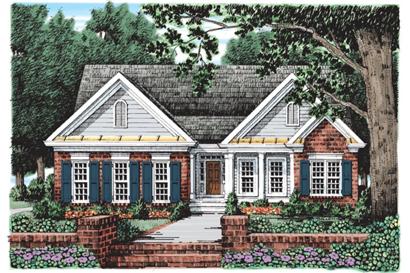 Country Exterior - Front Elevation Plan #927-145