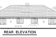 European Style House Plan - 3 Beds 2 Baths 2448 Sq/Ft Plan #18-187 Exterior - Rear Elevation