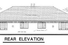 European Exterior - Rear Elevation Plan #18-187