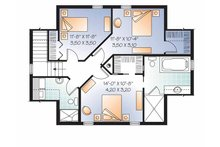 Colonial Floor Plan - Upper Floor Plan Plan #23-2487