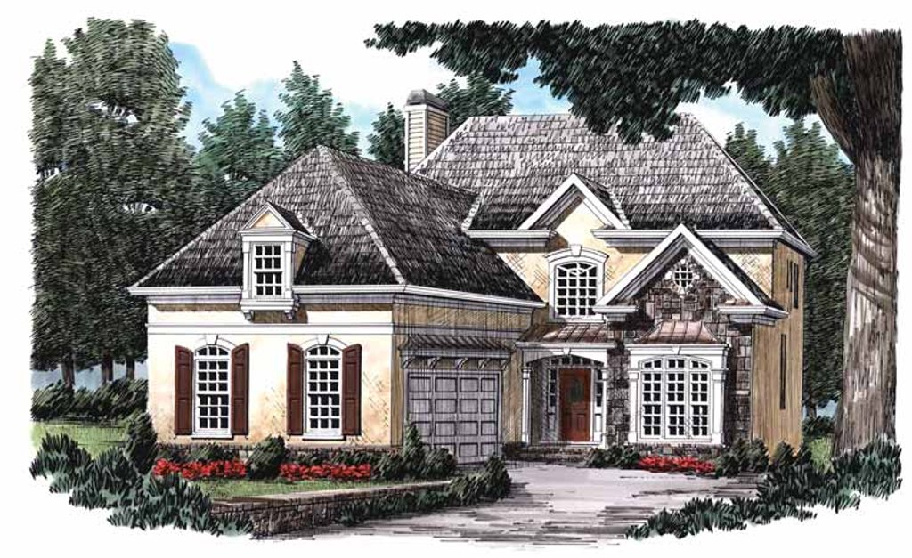 Country Exterior Front Elevation Plan 927 752