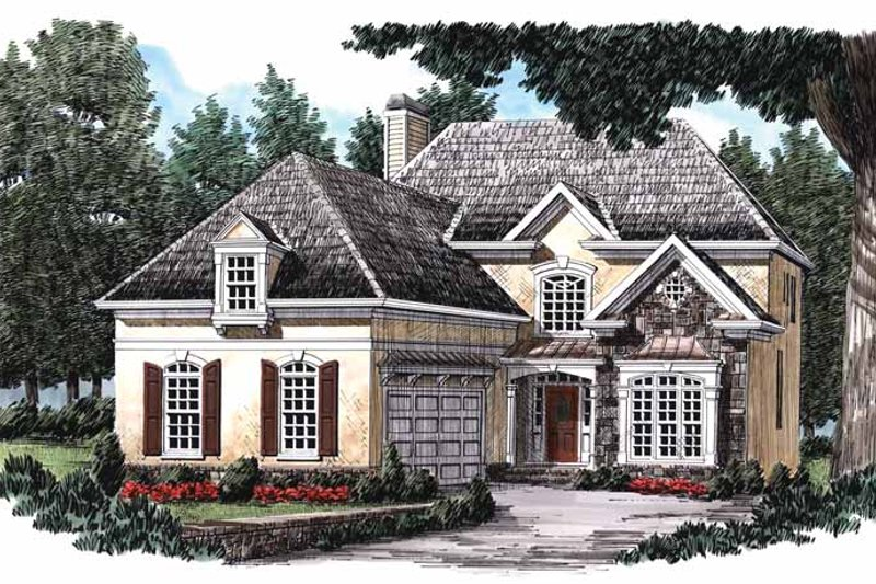 Country Exterior - Front Elevation Plan #927-752