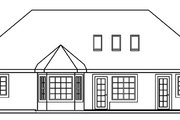 European Style House Plan - 3 Beds 2 Baths 1605 Sq/Ft Plan #124-476 Exterior - Rear Elevation