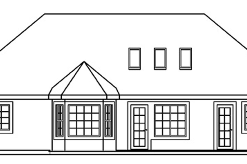 European Exterior - Rear Elevation Plan #124-476 - Houseplans.com