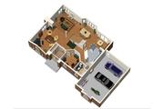 European Style House Plan - 4 Beds 2 Baths 2659 Sq/Ft Plan #25-4669 Floor Plan - Main Floor Plan
