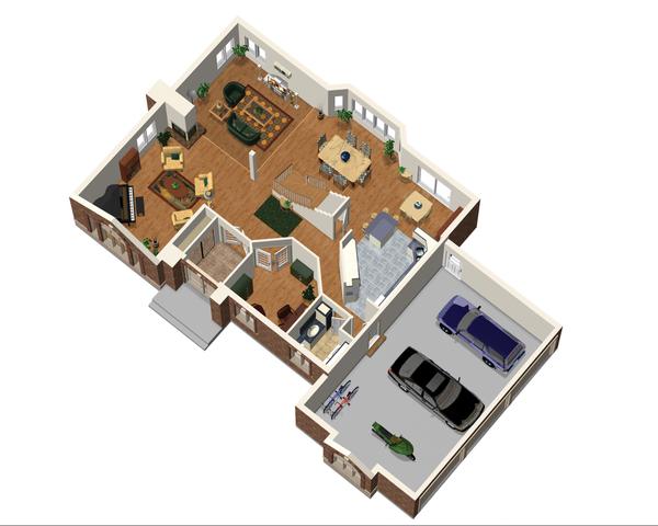 European Floor Plan - Main Floor Plan Plan #25-4669
