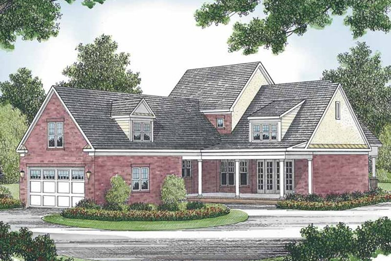 House Plan Design - Traditional Exterior - Front Elevation Plan #453-524