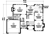 Traditional Style House Plan - 4 Beds 4 Baths 3341 Sq/Ft Plan #25-4629 Floor Plan - Main Floor Plan