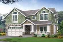 Architectural House Design - Craftsman Exterior - Front Elevation Plan #132-243