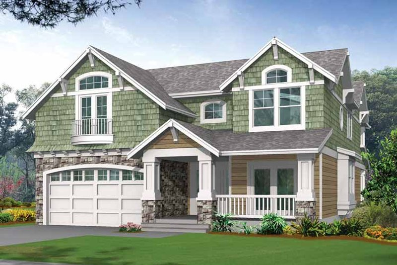 Craftsman Exterior - Front Elevation Plan #132-243 - Houseplans.com
