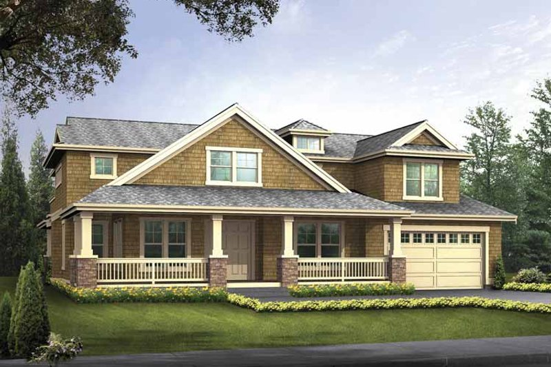 Home Plan - Country Exterior - Front Elevation Plan #132-497