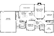 Traditional Floor Plan - Main Floor Plan Plan #328-465