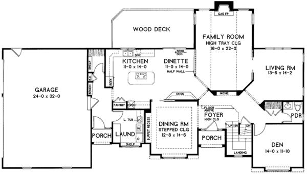 Traditional Floor Plan - Main Floor Plan Plan #328-465