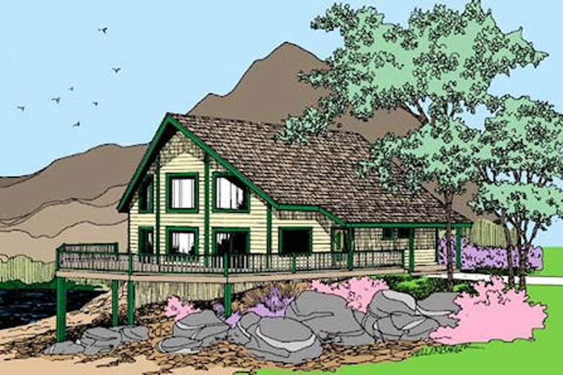 Modern Exterior - Front Elevation Plan #60-598