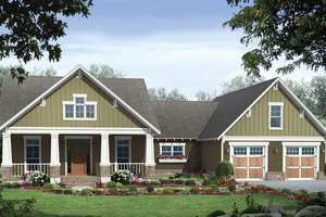 Country Exterior - Front Elevation Plan #21-429