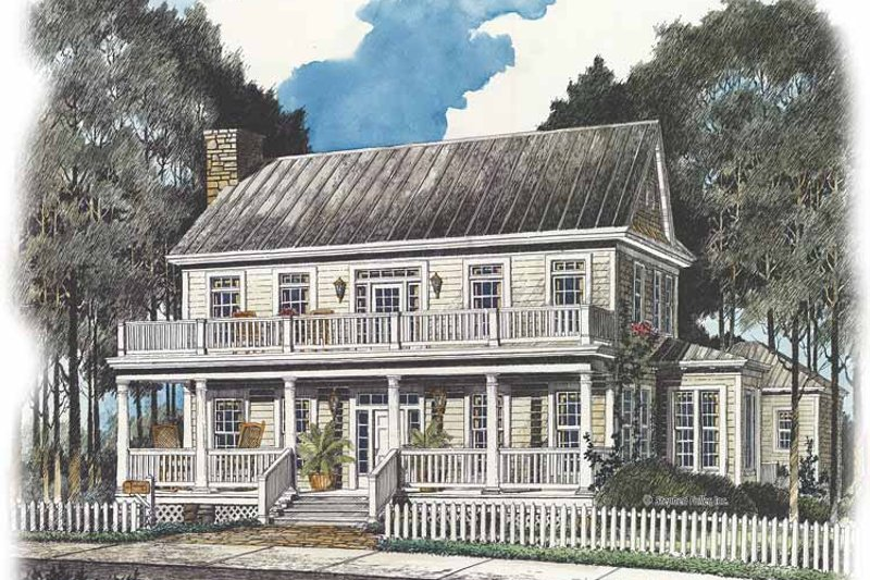 Country Exterior - Front Elevation Plan #429-435 - Houseplans.com