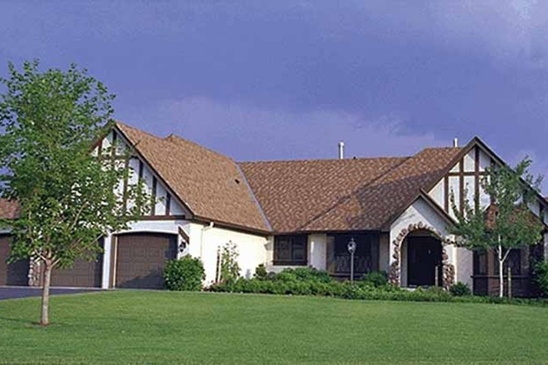 House Design - Tudor Exterior - Front Elevation Plan #51-959