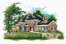 Country Exterior - Front Elevation Plan #952-187