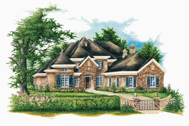Dream House Plan - Country Exterior - Front Elevation Plan #952-187