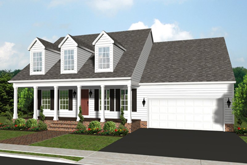 Architectural House Design - Traditional Exterior - Front Elevation Plan #1053-42
